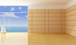 Lege woonkamer Stock Fotografie