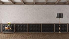 Lege woonkamer in klassieke stijl Royalty-vrije Stock Foto