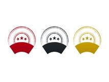 Lege zegels met etiket en sterren, vectorillustratie Royalty-vrije Stock Foto's