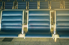 Lege zetel in luchthaven Stock Foto's
