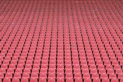 Lege zetels bij het stadion Stock Foto's