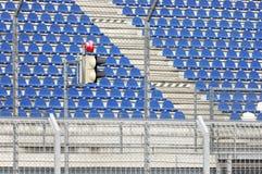 Lege zetels bij stadion Stock Afbeelding