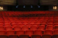 Lege zetels in het theater royalty-vrije stock afbeeldingen