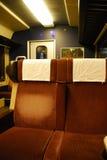 Lege zetels op een trein Royalty-vrije Stock Fotografie