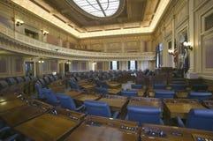 Lege zetels van Huis van Afgevaardigdenkamer Royalty-vrije Stock Foto's