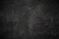 Lege zwarte concrete oppervlaktetextuur Stock Afbeelding