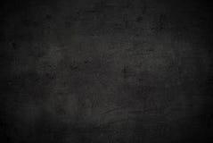 Lege zwarte concrete oppervlaktetextuur Royalty-vrije Stock Foto