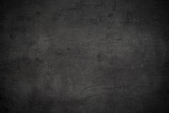 Lege zwarte concrete oppervlaktetextuur Stock Fotografie