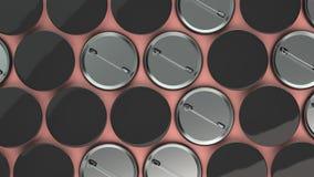 Lege zwarte kentekens op rode achtergrond Stock Afbeeldingen