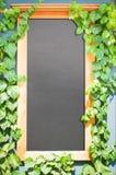 Lege zwarte raad Stock Foto's