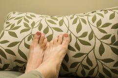 Legen Sie Ihre Füße dar Lizenzfreie Stockbilder