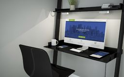 legen Sie moderne Tischplattenwebsite beiseite lizenzfreie abbildung