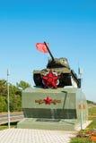 Legendário do carro de combate médio soviético T-34 da segunda guerra mundial Fotos de Stock