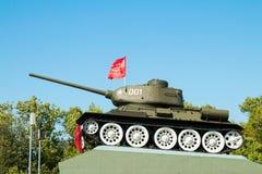 Legendário do carro de combate médio soviético T-34 da segunda guerra mundial Fotografia de Stock