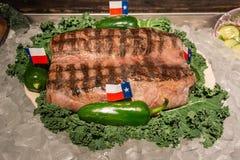 Legendäres freies Steak 72oz an der großen Texaner-Steak-Ranch in Amarillo, TX lizenzfreie stockfotografie