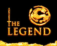 Legend. The legend with sword & dragon Royalty Free Stock Photography