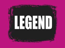 Legend banner. Legend pink and black banner Stock Image