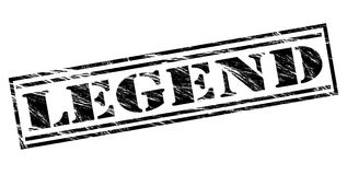 Legend black stamp. Isolated on white background Royalty Free Stock Photography
