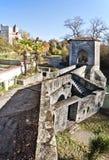 Legend Bridge details in Sauveterre-de-Bearn medieval village Royalty Free Stock Photography