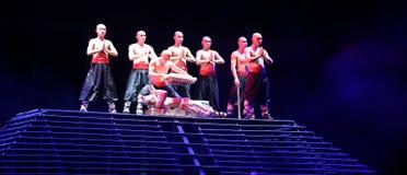 Legend för handlingdrama av Kungfu, Peking, Kina royaltyfri foto
