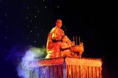 Legend för handlingdrama av Kungfu, Peking, Kina royaltyfri fotografi