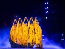 Legend för handlingdrama av Kungfu, Peking, Kina royaltyfria foton