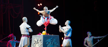 Legend för handlingdrama av Kungfu, Peking, Kina arkivbild