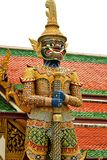 The legend giant stands in the Wat phra kaew, Bangkok Thailand Royalty Free Stock Image