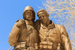 1919 The Legend of Kars and Monument Sculpture.  royalty free stock image
