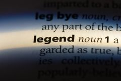 Legend. Word in a dictionary.  concept royalty free stock photos
