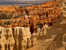 The Legend People of the Coyote Spirit Bryce Canyon. Crimson-colored hoodoos, called the Legend People by the Indians.  They claim the Coyote Spirit turned  the Royalty Free Stock Photos