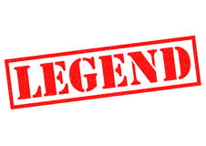 LEGEND. Red Rubber Stamp over a white background Stock Photo