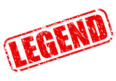 Legend red stamp text Royalty Free Stock Photo