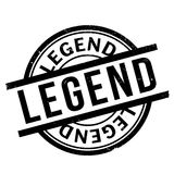 Legend rubber stamp. Grunge design with dust scratches. Effects can be easily removed for a clean, crisp look. Color is easily changed Stock Images