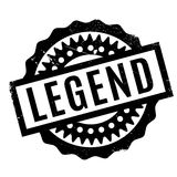 Legend rubber stamp. Grunge design with dust scratches. Effects can be easily removed for a clean, crisp look. Color is easily changed Royalty Free Stock Photography