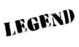 Legend rubber stamp. Grunge design with dust scratches. Effects can be easily removed for a clean, crisp look. Color is easily changed Stock Image