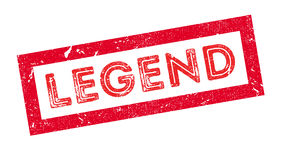 Legend rubber stamp. On white. Print, impress overprint Stock Photography