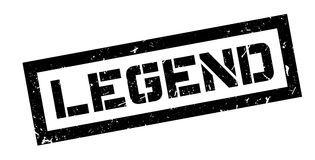 Legend rubber stamp. On white. Print, impress overprint Royalty Free Stock Photography