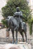 Saint George sculpture stock photo