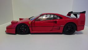 Ferrari F40 red racing car - side view royalty free stock image