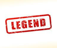 Legend text buffered. Illustration of legend text buffered on white background Stock Images