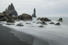 Legend of the trolls in Reynisdrangar Stock Images