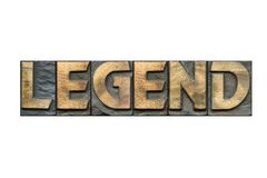 Legend word isolated royalty free stock photos