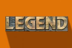 Legend word wooden orange royalty free stock image