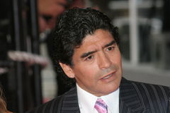 Legenda argentina Diego Maradona di gioco del calcio Immagine Stock