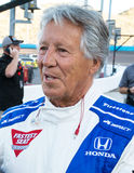 Legenda Mario Andretti das corridas de carros de Indy foto de stock