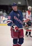 Legenda Wayne Gretzky do NHL fotos de stock royalty free