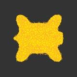 Legendario del paño grueso y suave de oro aislado Artefacto amarillo de la magia del espolón de la piel ilustración del vector
