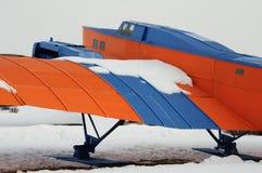 Legendarisch oud vliegtuig Royalty-vrije Stock Afbeelding
