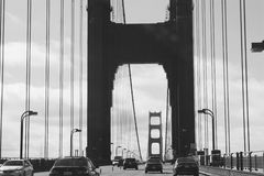 Legendarisch San Francisco Bridge Stock Fotografie